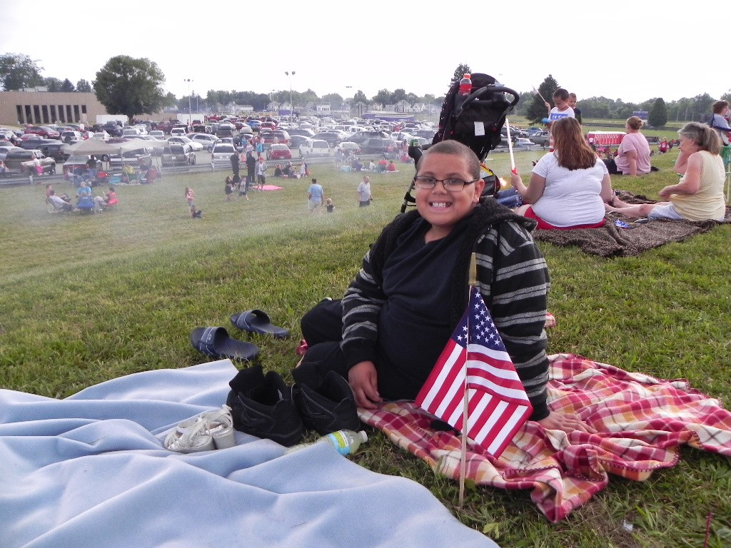 Anticipating the excitement of the fireworks to come is half the fun!