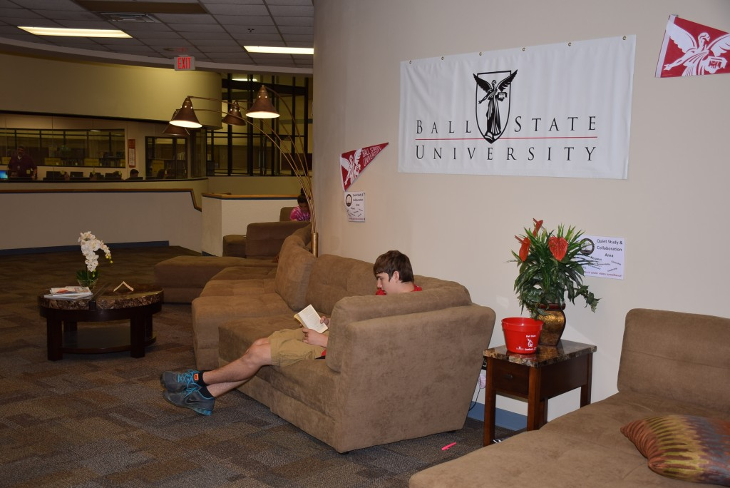"Two student lounge areas have been added to create a ""collegiate feel"" for students."