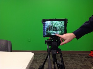 Learn video editing and using a green screen