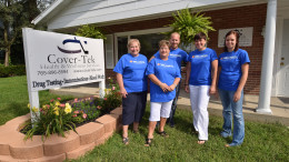 Cover-Tek staff outside their building at 926 W. Main St., Muncie