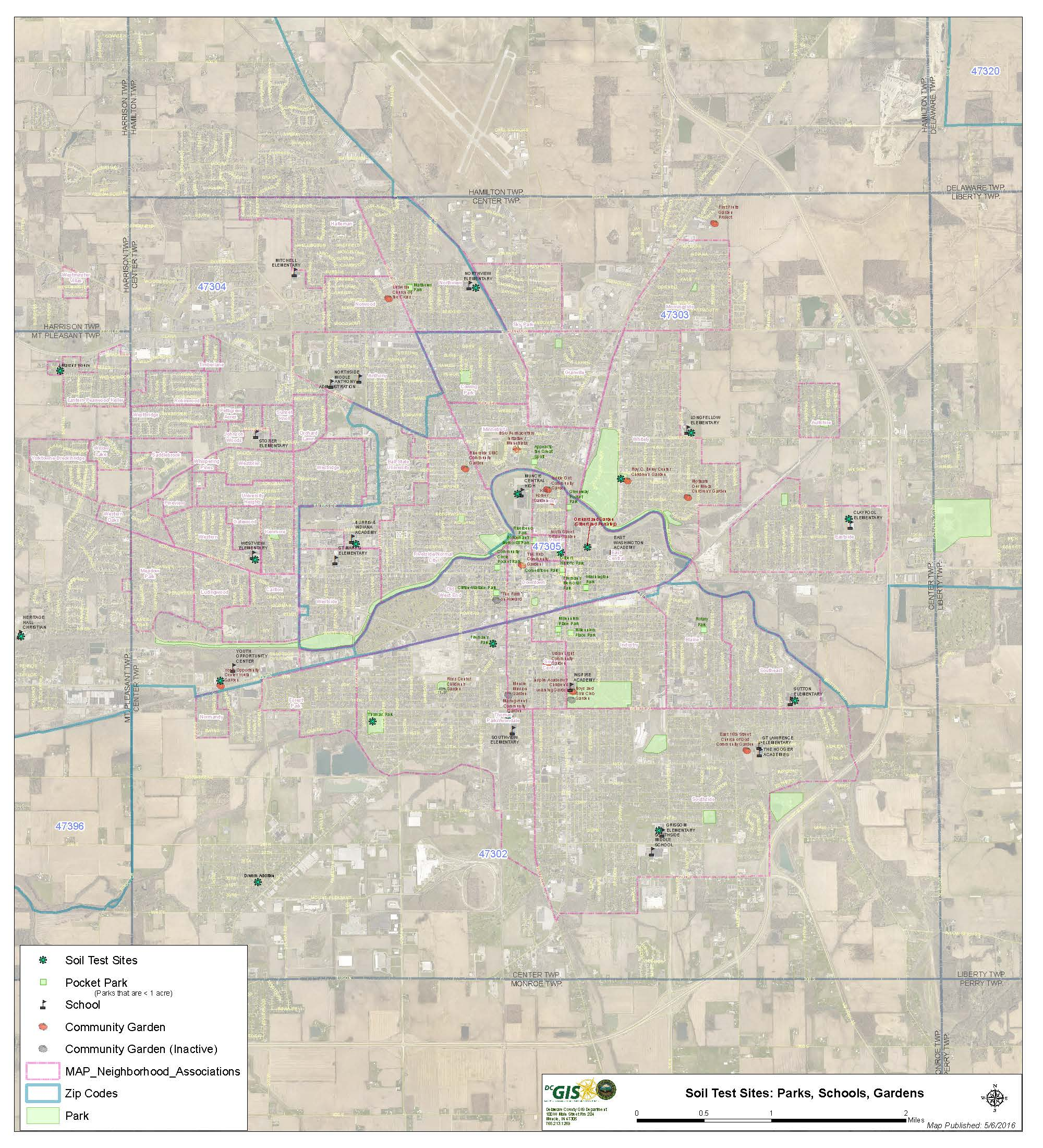 Muncie Zip Code Map.Muncie Action Plan Map Newsletter Summer 2016 Muncie Journal