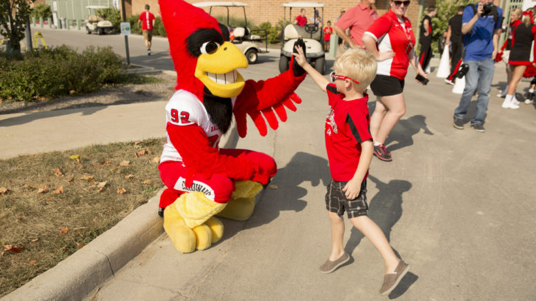 Charlie Cardinal is always a hit with the kids! Photo provided.