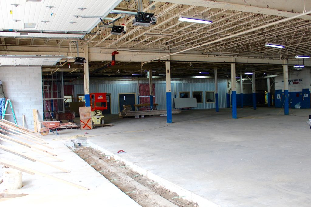 Construction taking place inside MadJax continues to allow another CO:LAB location. Photo provided.