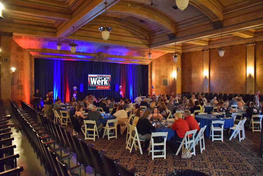 """An image of Cornerstone Center for the Arts """"Grand Hall"""" during WERK's 50th Birthday"""