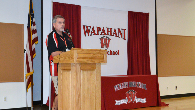 Richard Morris at Wapahani High School. Photo provided.