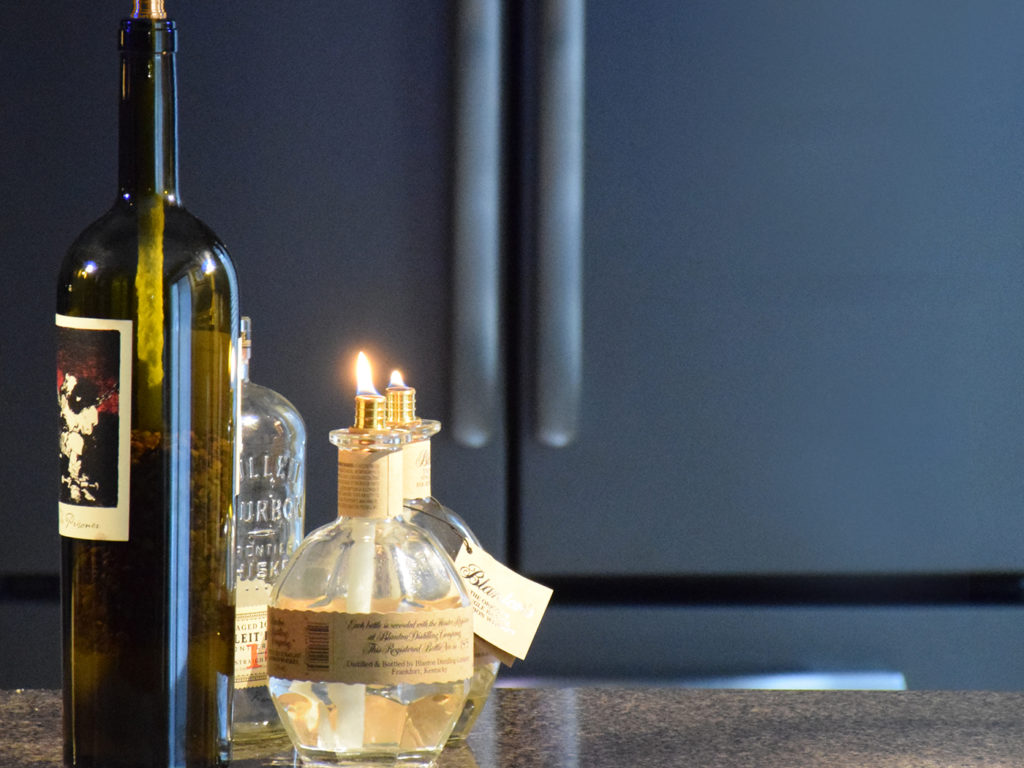 Repurpose A Wine Bottle Into A Candle For Your Patio