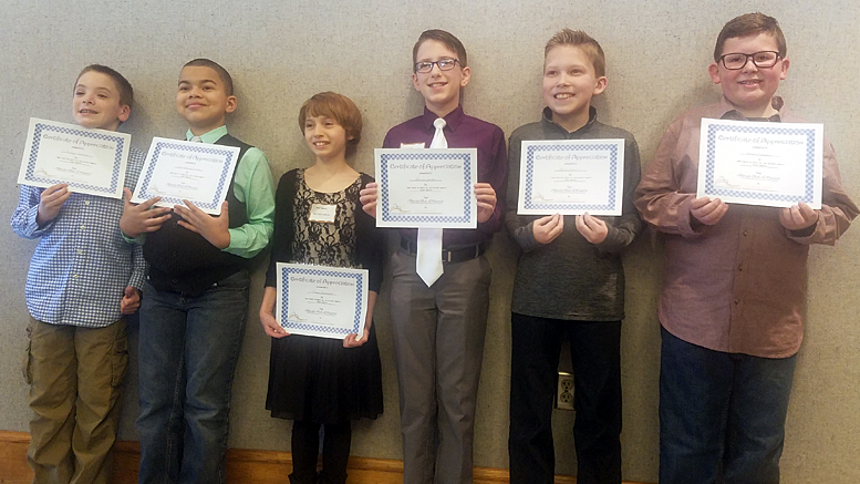 Finalists for the Altrusa Club of Muncie 4th Grade Essay Contest. Photo provided.