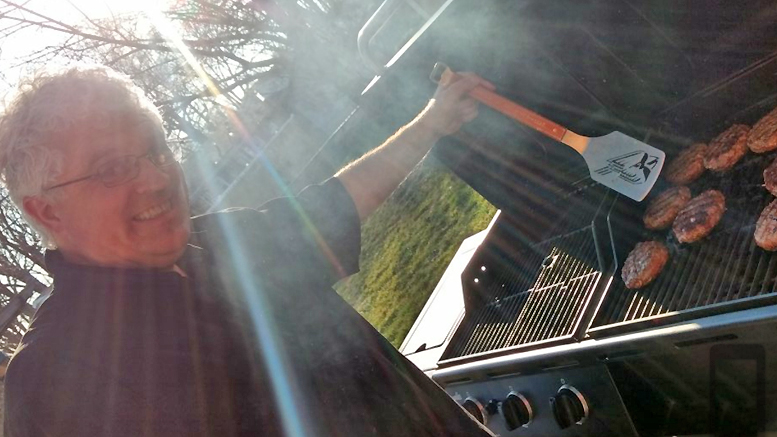 When he's not on the radio, WLBC's Steve Lindell loves to grill outdoors!