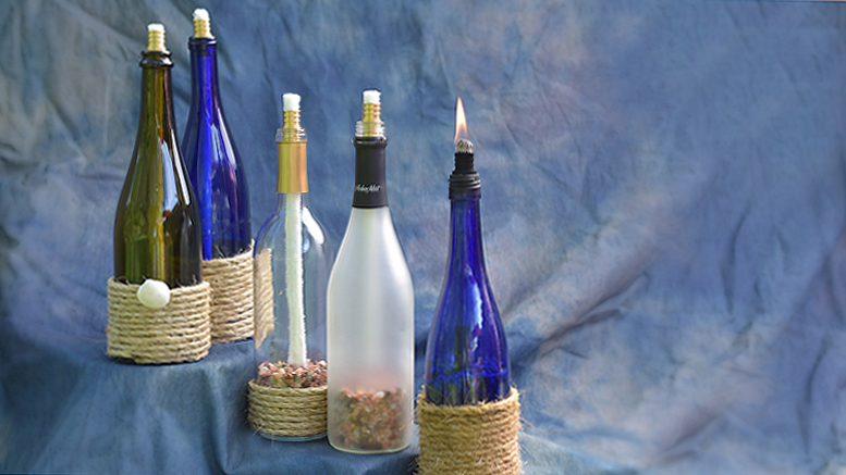 Crafty Items Like Repurposed Wine Bottles Turned Into Candles Can Make Interesting Giver Focused