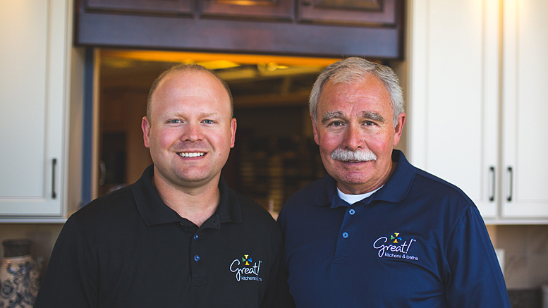 John West, AKBD and Gary West, CMKBD of Great Kitchens and Baths in Muncie.
