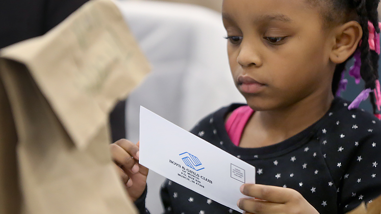 A young child is pictured at a recent Boys & Girls club luncheon. Photo provided.