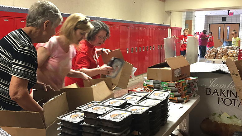 The food pantry at Southside Middle School. Photo provided.