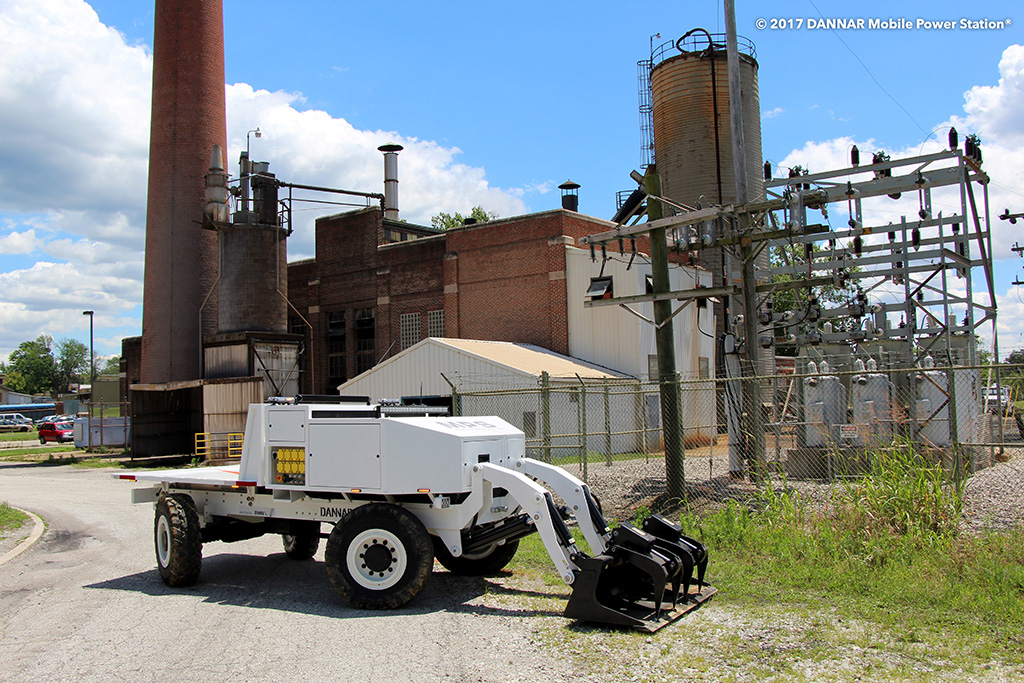 The Mobile Power Station® is a revolutionary, zero emission heavy-duty work vehicle that is built for maintenance and response. Photo provided.