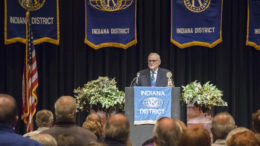 David N. Dixon, Ph.D., Governor, Indiana District of Kiwanis, speaks during the opening session. Photo by: Mike Rhodes