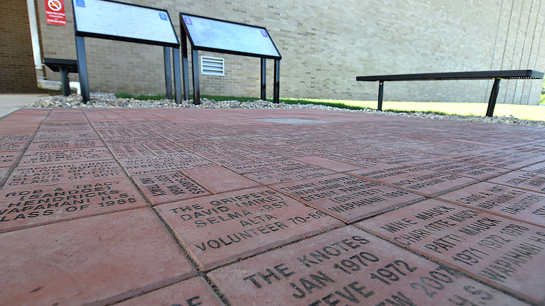Liberty- Perry Schools Alumni Engraved Brick Walkway. Photo by: Mike Rhodes