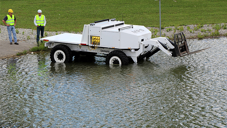 The Mobile Power Station® has the ability to travel through nearly 3 feet of flood water during an emergency response situation. Photo provided.