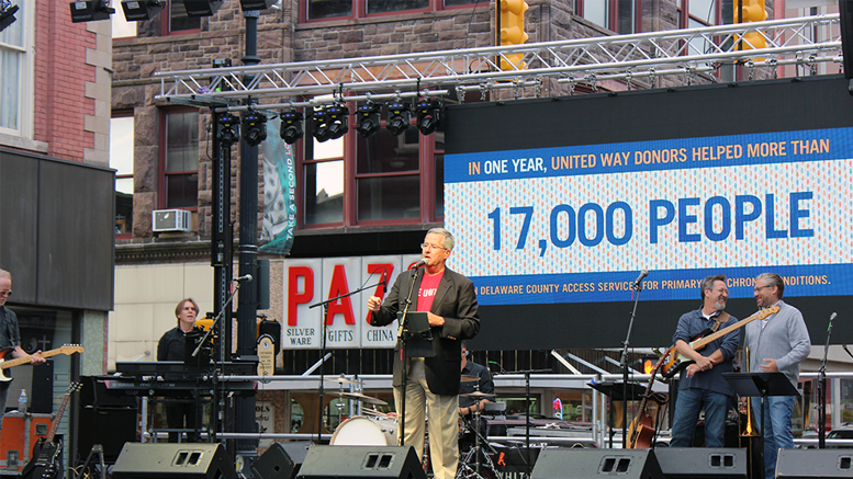 United Way Worldwide President, Brian Gallagher is pictured during the 2017 UWDC Kick-Off in downtown Muncie. Photo by: Zach Poor
