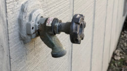 Remove hoses from any outdoor faucets.