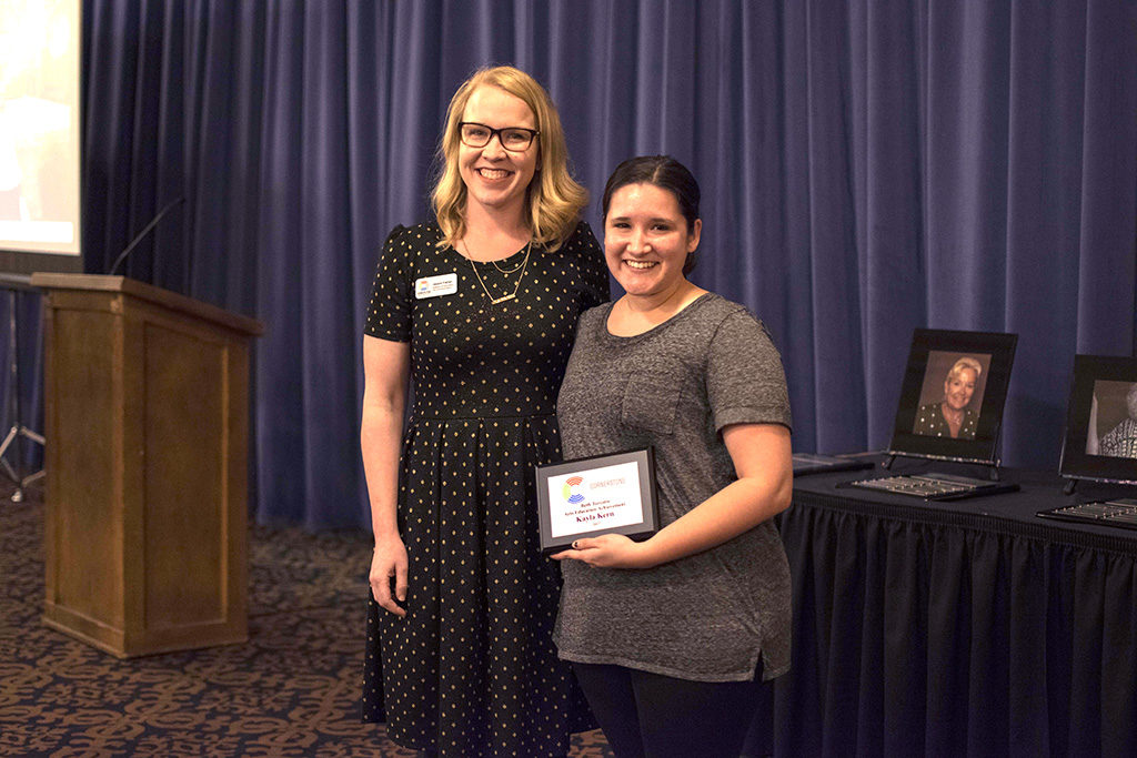 Kayla Kern (right) was named the 2017 Beth Turcotte Arts Education Achievement recipient. Photo by: Chelsea Scofield