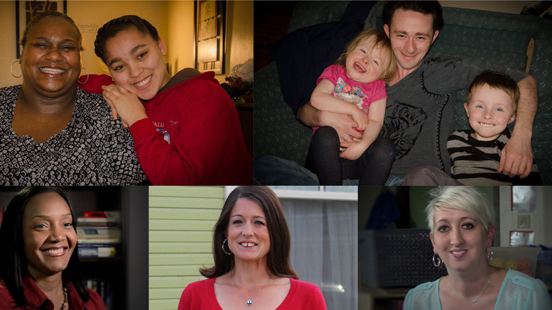 Collage of ALICE families highlighted in this year's campaign. Photo provided.