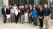 Ball Brothers Foundation's board includes 3rd and 4th generation family members as well as non-family community members. This photo was taken in May 2017 in Muncie and included board members, BBF staff, and Associate Directors (next generation Ball family members who were learning more about BBF.) Photo provided