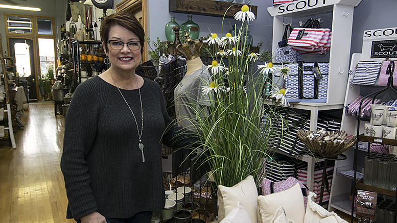 Olive & Slate's Jacky Johnson is very knowledgeable about the store's products and will assist you in finding something you are sure to love! Photo by: Mike Rhodes