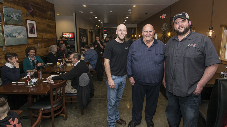(L-R) Josh Shaffer, Phil Peterson and Caleb Churchill are pictured during the Pete's Bar & Grill soft opening on March 29th. Photos by: Mike Rhodes