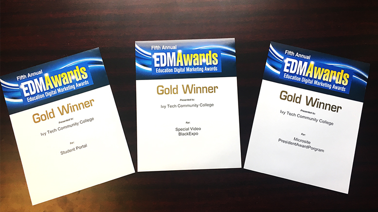 A few of Ivy Tech's EDM Awards are pictured. Photo provided.