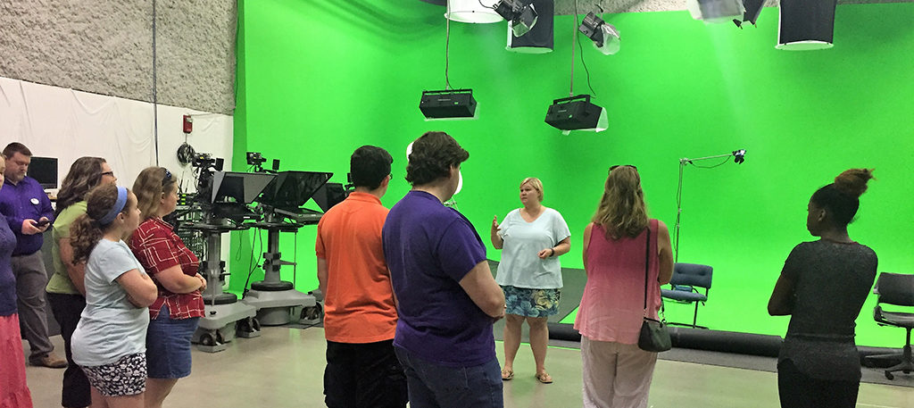 Film School students tour the BSU Communication Building in 2017.