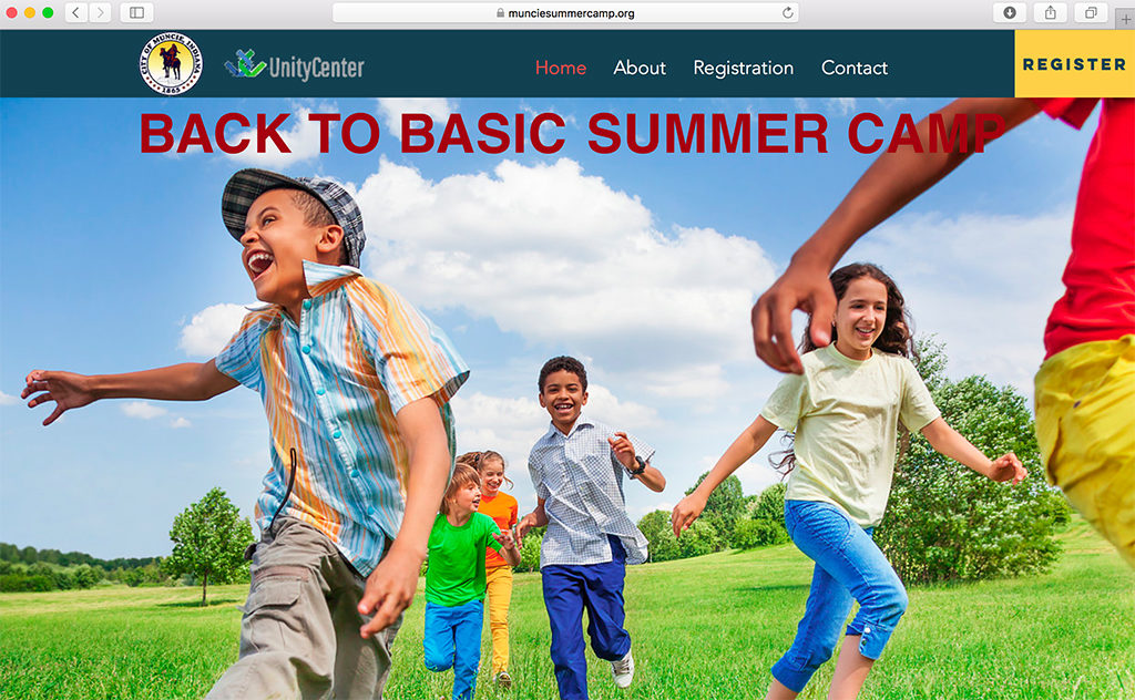 Visit the summer camp website to register at http://www.munciesummercamp.org