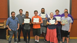 2017 Film School students with certificates and the MPL Digital Mentors. Photo by: Loren McClain, Muncie Public Library