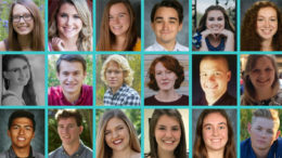 Community Foundation Scholars: Anna Beach, Grace Belangee, Indira Brown, Skylar Cassity, Arianna Dollinger, Lily Fillwalk (top row); Faith Flick, Lucas Henson, Alexander Herbst, Bryn Marlow, Brock McCoy, Emma-Mae Newman (middle row); Javier Onate, Cade Orchard, Hannah Quirk, Michelle Scanameo, Astra Sisson, Korbin Zvokel (bottom row)