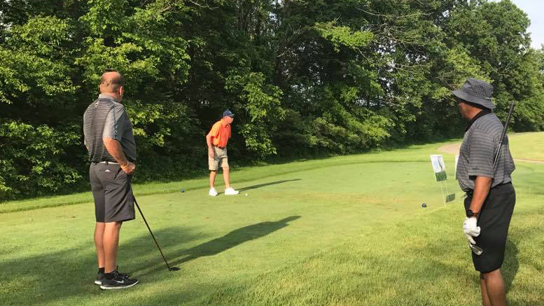 Golfers tee up at the 2nd Annual Roy C. Buley Memorial Golf Outing. Photo provided.