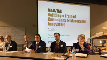 An initial planning meeting was recently held to discuss how to use Mad/Jax and its educational partners for training and youth development in Muncie and Delaware County. Photo provided.
