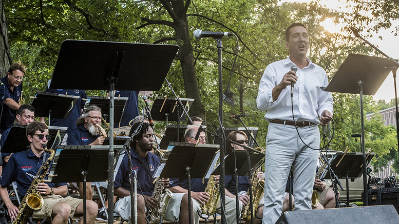 Big Band crooner Myles Ogea is scheduled to perform at the Jazz on the Terrace concert with America's Hometown Band, on Thursday, July 19, at 7 pm. Photo by: Mary Ellen Bertram.