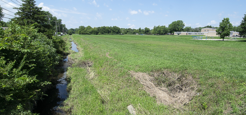 Drainage ditch on the southside of the Storer property. Photo by: Mike Rhodes