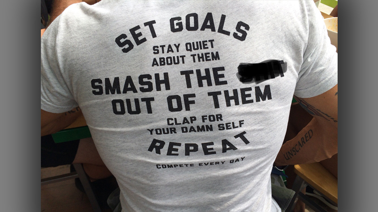 People wearing shirts like this tend to be go-getters. Photo by: Nancy Carlson