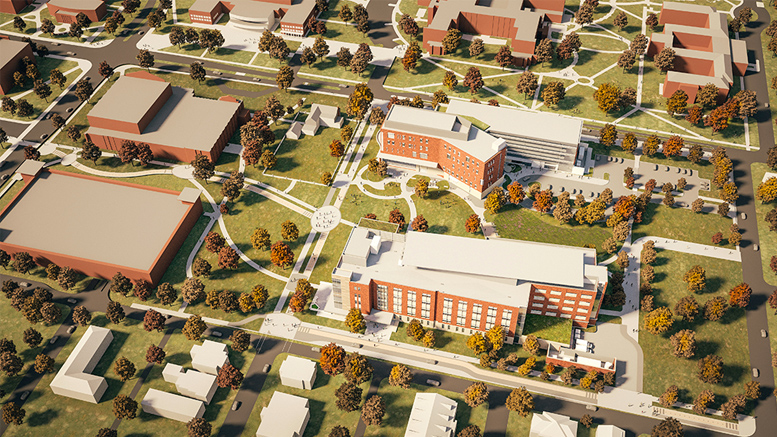 Proposed design of the $87.5 million Foundational Sciences Building at Ball State. Illustration provided.