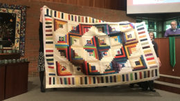 "An example of a quilt to be raffled during ""Bazaar in the Woods"" on Saturday, November 3, 2018. Photo provided."