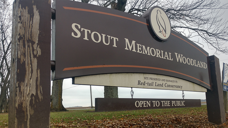Entrance to Sam and Stella Stout Memorial Woods. Photo provided