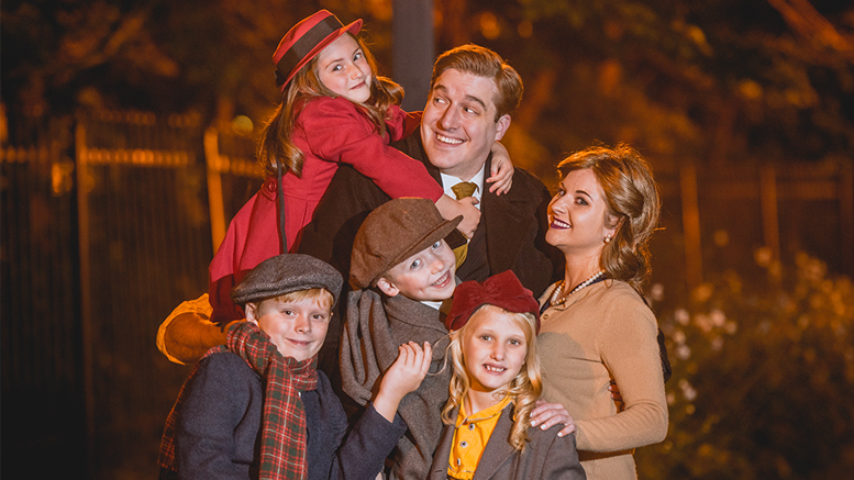 "The Bailey family in Muncie Civic's production of ""It's a Wonderful Life."" Photo by: Amanda Kishel"