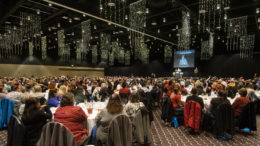 550 teachers and staff attended the first-ever Muncie Community Schools appreciation luncheon. Photo by: Mike Rhodes