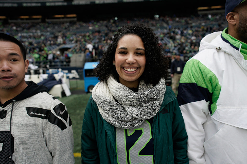 Sydney Noland. Photo courtesy of Seattle Seahawks
