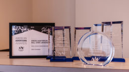 Sample ADDY awards from past winners. File photo