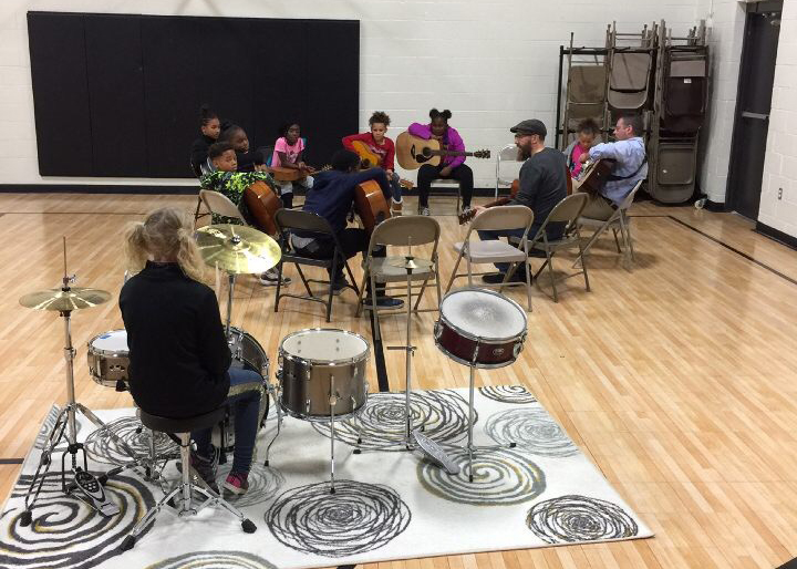 "A ""Modern Band"" after school session at the Roy C. Buley Center. Photo provided"