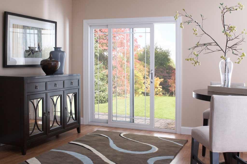 A beautiful patio door from Window World® is pictured.
