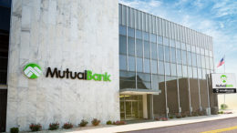 MutualBank's main office is located at 110 E Charles Street in downtown Muncie. Photo by: Mike Rhodes