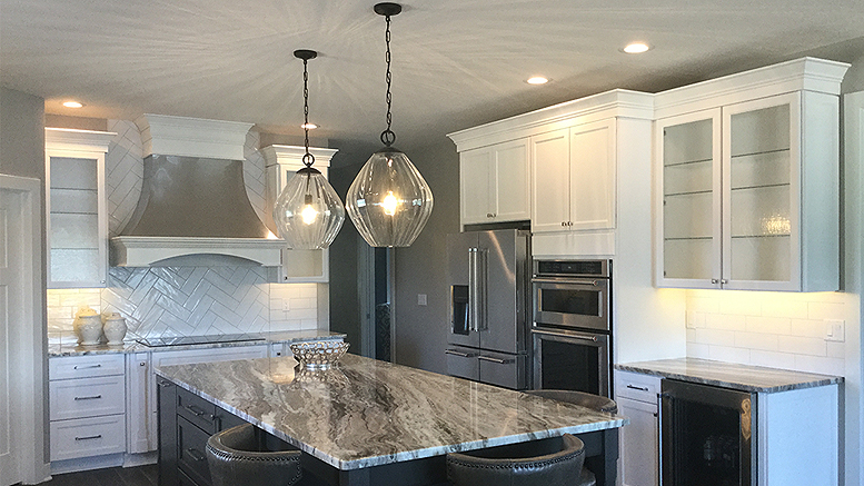 A beautiful kitchen design and cabinet installation by Knapp Supply.