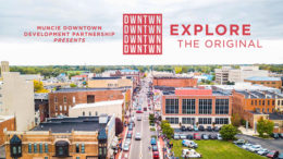 An aerial view of downtown Muncie. Photo by: Intersection