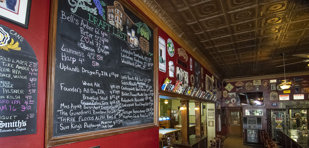 Some of the beers offered at the Fickle Peach. Photo by: Mike Rhodes